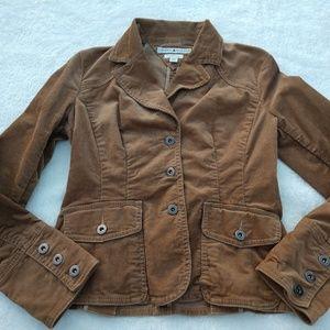 TH Brown Corduroy Button Logo Stretch Jacket SP